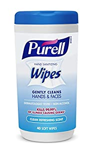 Purell 9120-03-EC Hand Sanitizing Wipes, Clean Refreshing Scent