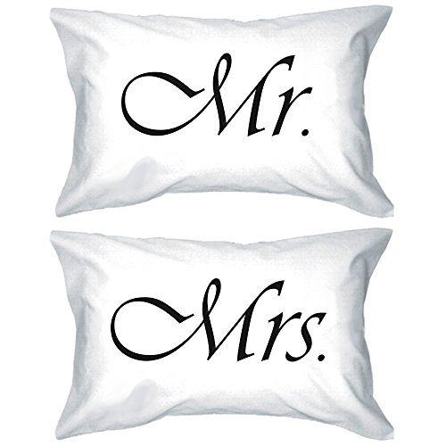 Mr and Mrs Couple Pillowcases Classy Matching Pillow Covers Gifts for Newlyweds