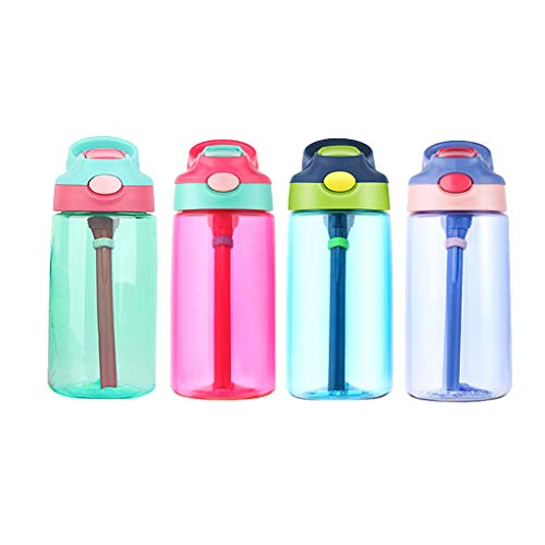 Yu2d  Flip Led Straw Water Drink Bottle Sport Hydration Cycling Hiking Camping Tritan(Red) ()