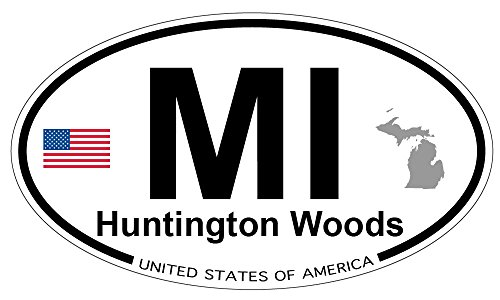 Huntington Woods, Michigan Oval Magnet ()