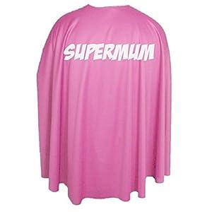 Adults 35″ Super Mum Superhero Mothers Day Fancy Dress Cape Gift Idea[Pink]