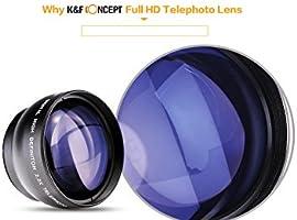 K&F Concept - 58mm Objetivo para Cámara Réflex 2.2X Digital ...