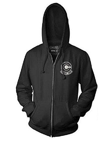 Dragon Ball Z Capsule Corp Logo Adult Zip Hooded Sweatshirt -