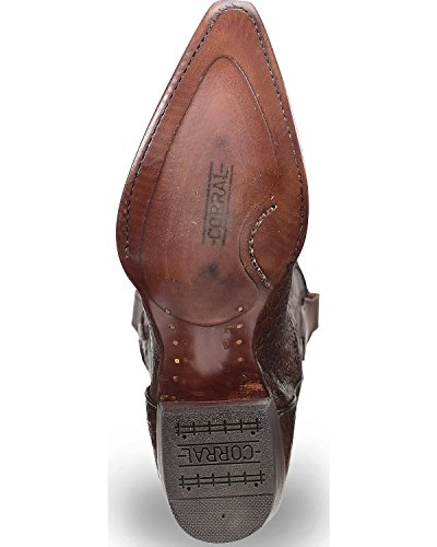 Corral Heren Tabak Kaaiman Contrasterende Kraag Cowboy Laars Knip Teen - C3254 Donkerbruin