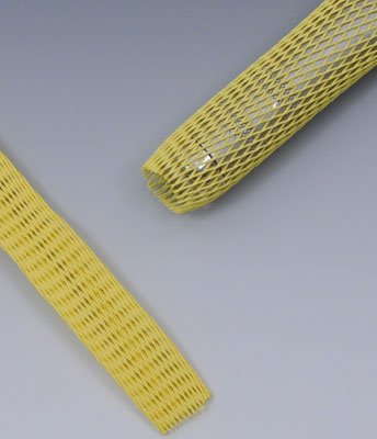 1'' to 2'' Diameter Protective Mesh Tubing - Yellow (164 ft.) (1 roll) - AB-425-17Y by Miller Supply Inc