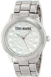 Steve Madden Women's SMW00021-08 Silver Textured Dial Watch