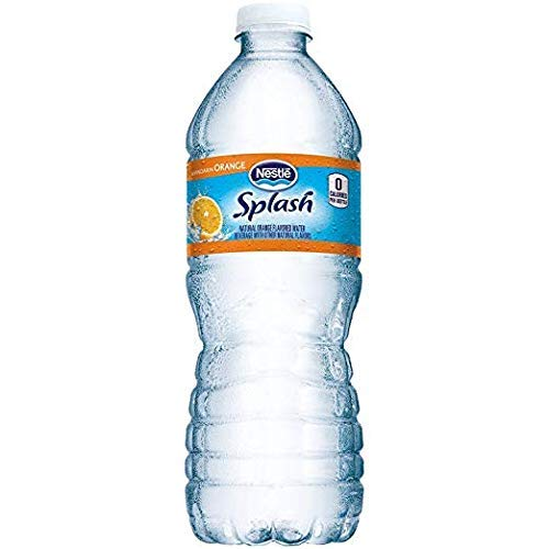 Nestlé Splash Water Beverages, Mandarin Orange, 16.9 Oz, Case of 24 Bottles (3 Case of 24)