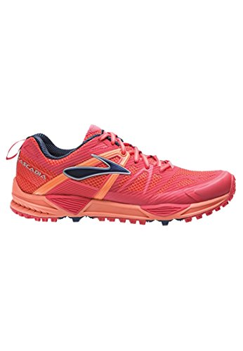 Cascadia Red Chaussures de W Femme 10 Running Brooks Compétition Saumon AdWqFO