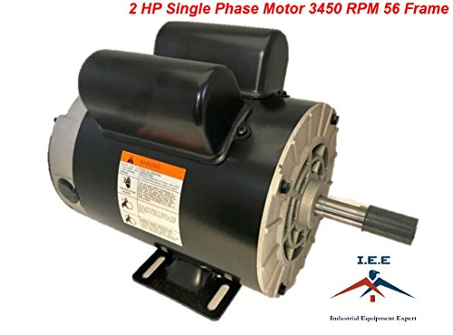 2 HP SPL 3450 RPM 56 Frame 120/240V 15/7.5Amp 5/8'' Shaft Single Phase NEMA Motor by I.E.E