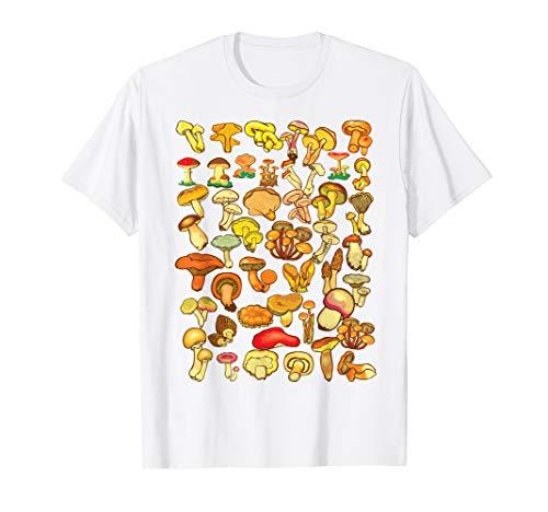 Wild Mushrooms Shirt | Cute Mycological Food Art Tshirt Gift