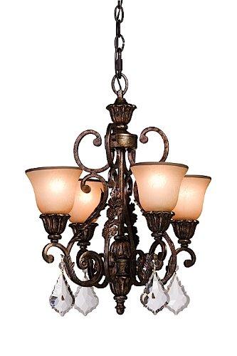 23' Chandelier (Artcraft Lighting Florence 4-Light Mini Chandelier, Rich Bronze)