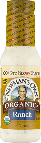 Newman's Own Organic Salad Dressing, Ranch, 12 Ounce