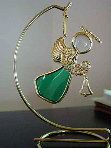 Glass Angel Bell Ornament - 9