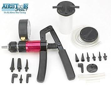 Bomba de vacío manual multifuncional, juego de 21 piezas para purga de líquido de frenos.: Amazon.es: Coche y moto