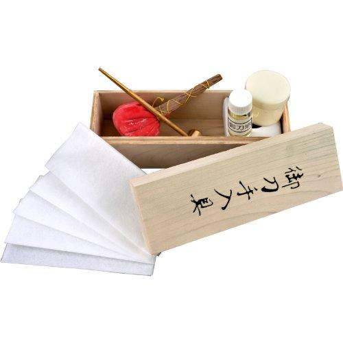 (Japanese Samurai Katana Sword Maintenance Cleaning Oil Kit w/ Storage Box)