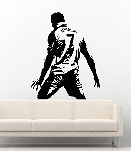 Cristiano Ronaldo CR7 Football Club Real Madrid Sport Wall Decals Soccer Player Football Ball Play Game Vinyl Decor Stickers MK2352