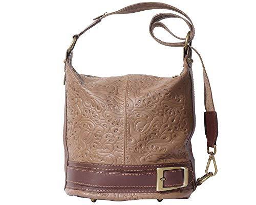 Sac à bandoulière Superflybags ou main en cuir véritable modèle Lidia Fiorita Made Italy Tapue