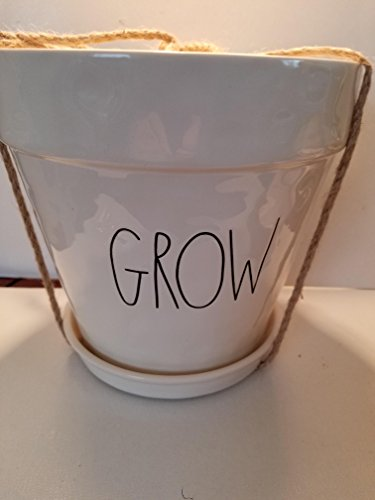 (Rae Dunn by Magenta GROW flower pot 8 x 8 )
