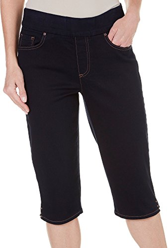 - Gloria Vanderbilt Women's Avery Pull On Slim Fit Bermuda Short Blue