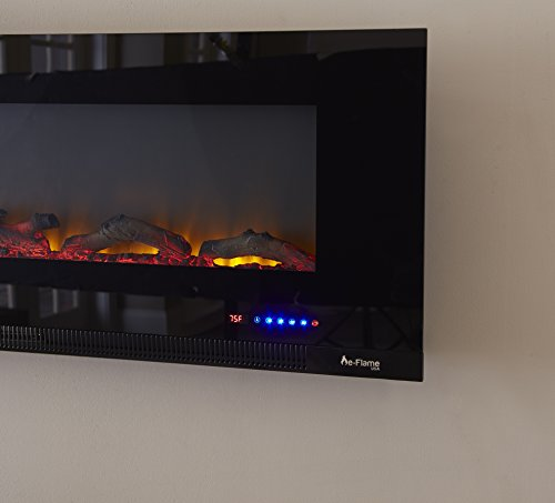 e-Flame Mount Wide LED a Control, and Realistic Burning and