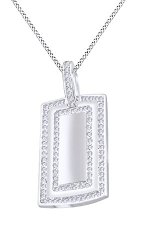 Christmas Sale 1.25Ct Natural Diamond Dog Tag Military Pendant In 14K Solid Gold