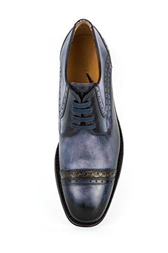 Melvin & Hamilton - Zapatos de cordones de Piel Lisa para hombre azul azul 42