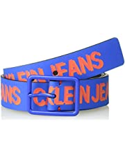 Calvin Klein Boys' Big Logo Printed Belt