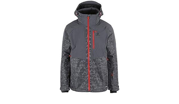salomon mens icefrost ski jacket forged iron as24d66