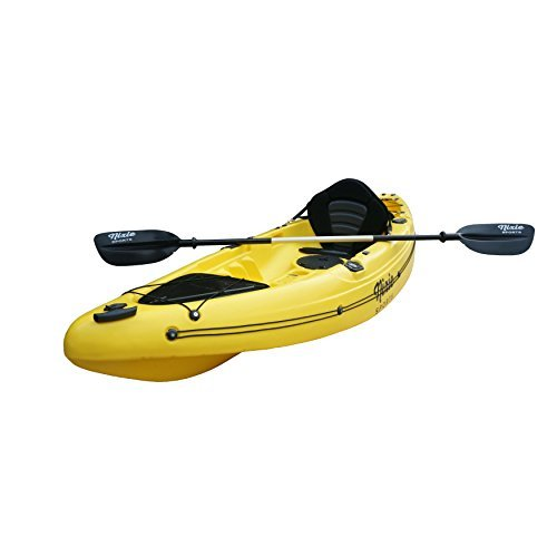 Fishing Angler Sit on Top Kayak by Nixie Sports | Includes Comfortable Backrest & Paddle - 330 lb. Weight Capacity