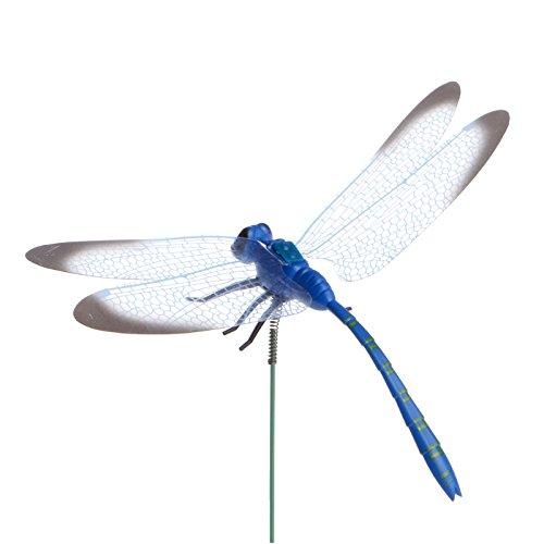 Poity Garden Ornament Colorful Fairy Dragonfly On Stick Home Garden Vase Lawn Art Craft Decor (Stick Vase)