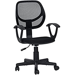 Superieur Black Office Task Desk Chair Adjustable Mid Back Home Children Study Chair