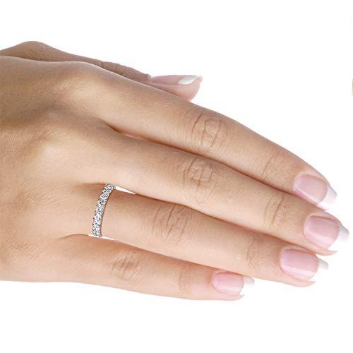 Amazon.com: Anillo de diamante de 1,5 quilates en oro de 10 ...