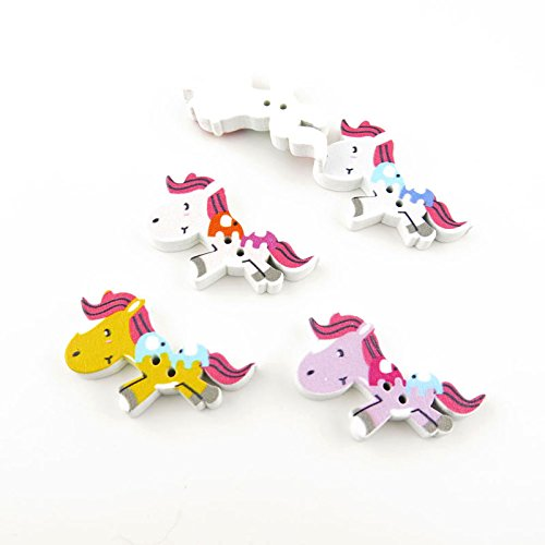 Wood Horse Cartoons Buttons Horse Sewing Clothes Accessories DIY Scrapbooking
