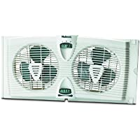 Holmes HAWF2030-N Dual Blade Twin Window Fan with Thermostat