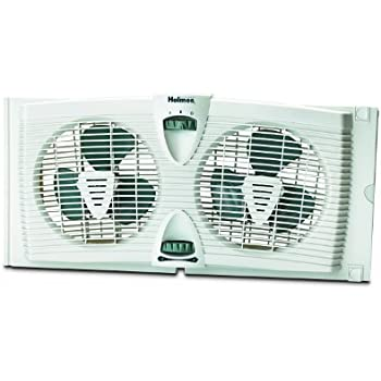 Amazon Com Holmes Dual Blade Twin Window Fan 2 Speed