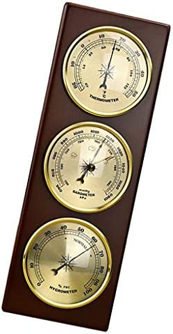 cherrypop for Home Pressure Gauge Weather Station Metal Wall Hanging Barometer Atmospheric Multifunction Thermometer Hygrometer Portable