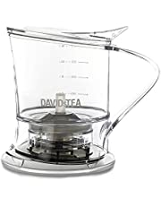 DAVIDsTEA Tea Steeper for Loose Tea with Lid, Bottom Dispensing Tea Infuser, 16 Ounces / 473 milliliters