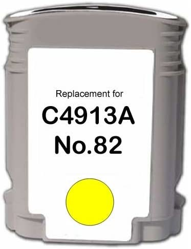MG Re-Manufactured Inkjet Cartridges etc; Yellow Ink: RC4913A 82 Yellow; Models: DesignJet 500 Replacement for HP C4913AN 510 500PS