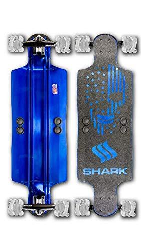 Shark Wheel Aluminum Longboards (Blue, 35)