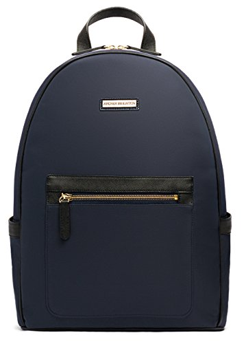 """Microsoft Ladies Tote Laptop (Archer Brighton Cara Laptop Backpack, Women's 13"""" Business Travel Leather Canvas Multipurpose Backpack (Navy Blue))"""