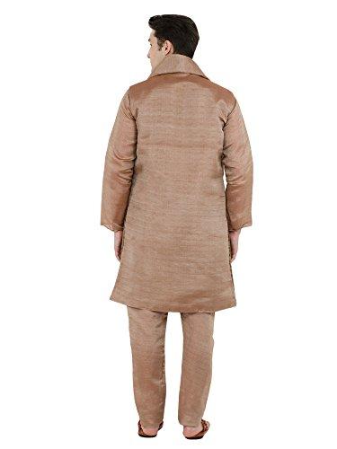Le 4 Set Chemise De Mariage Manches Marron Sherwani Bas Pour Hommes Soirée Kurta Pyjama Vers Pièces Bouton Longues Robe CrxBoed