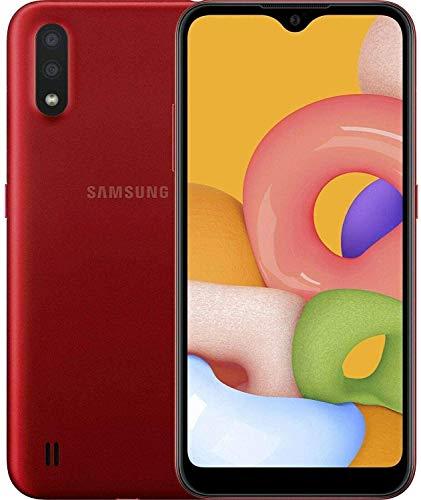 Samsung Galaxy A01 (A015M), 4G LTE, International Version (No US Warranty), 32GB, Red – GSM Unlocked