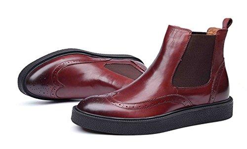 Dilize , Chaussures de ville à lacets pour homme rouge/marron