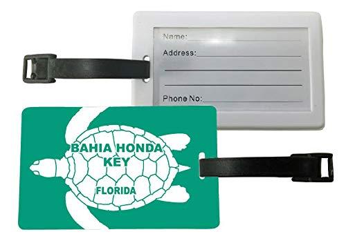 Bahia Honda Key Florida Turtle Design Souvenir Travel Luggage Tag 2-Pack