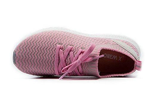 Onemix Donna Maglia Sneaker, Scarpe Da Corsa Basse Rosa