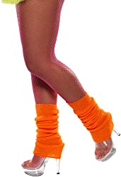 Smiffy's Neon Orange Leg Warmers