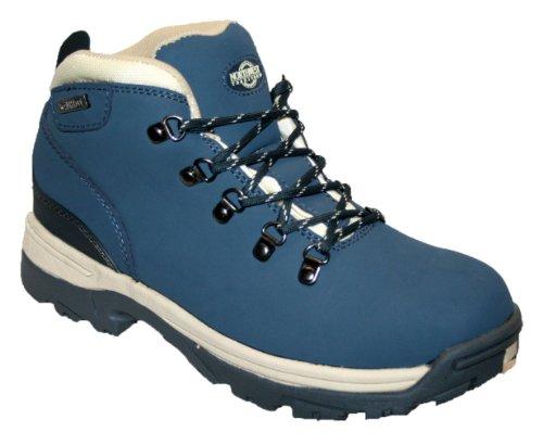 Botas de piel para mujer, ligeras, impermeables, ideales para caminar, senderismo o excursionismo Azul