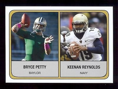 BRYCE PETTY BAYLOR KEENAN REYNOLDS NAVY 2014 COLLEGE FOOTBALL Rookie RC