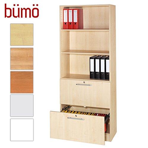 Bümö® Office Hängeregistratur-Regal Schrank abschließbar aus Holz ...
