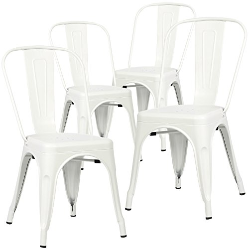 Poly and Bark Trattoria Side Chair in White (Set of 4) (Set Chairs Table And White)